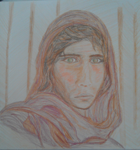 Copy-cat Afghan girl